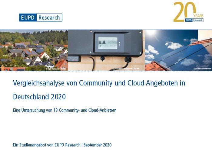 Vergleichsanalyse von Community und Cloud Angeboten in Deutschland